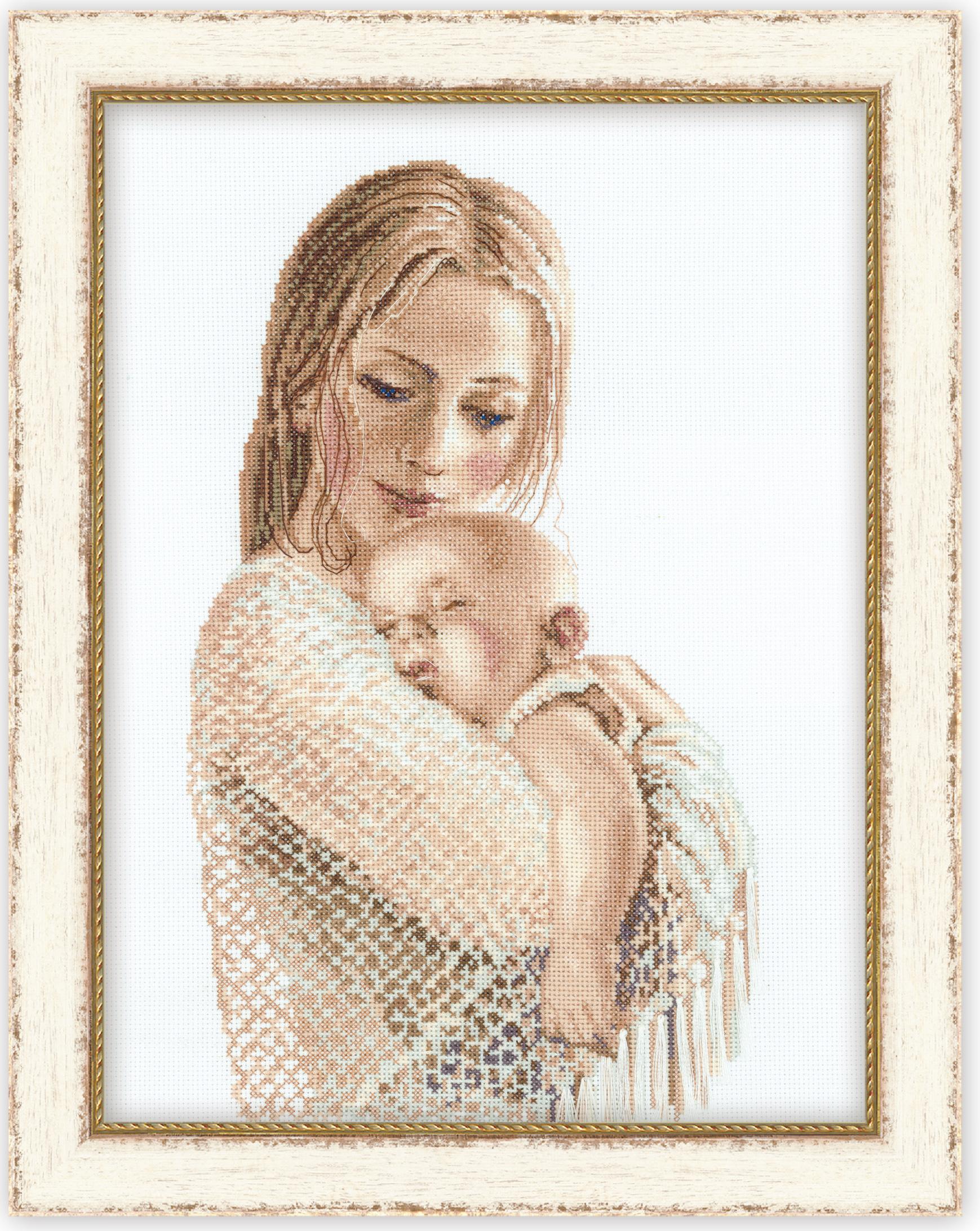Схема вышивки женщина с детьми