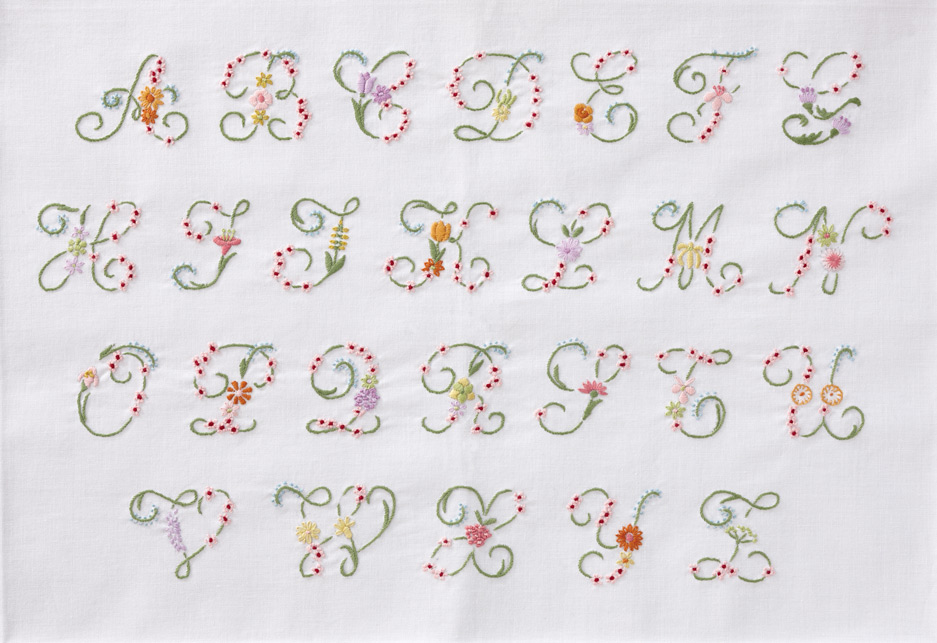Cross stitch kits for Embroidery prices per letter